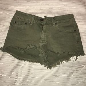 Pac Sun High Rise Jean Shorts